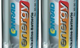 Verbeterde Conrad Energy Alkaline-batterijen